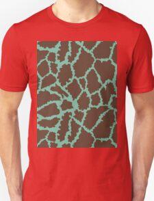 Blue Brown Leopard Skin Texture T-Shirt