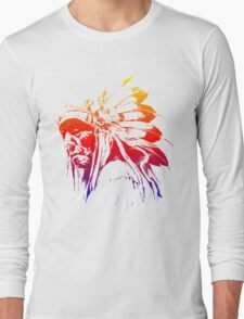 indian apache colored Long Sleeve T-Shirt