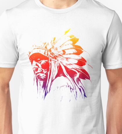 indian apache colored Unisex T-Shirt