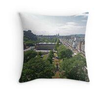 Princes Street, Edinburgh Throw Pillow