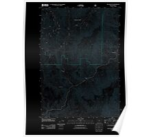 USGS Topo Map Oregon McLain Gulch 20110715 TM Inverted Poster