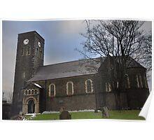 St Tydfils Old Parish Church - Merthyr Tydfil Poster