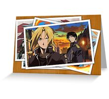 fullmetal alchemist edward elric roy mustang pictures anime manga shirt Greeting Card