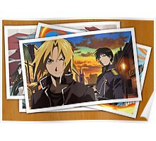 fullmetal alchemist edward elric roy mustang pictures anime manga shirt Poster