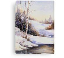 Watercolour winter scene Canvas Print