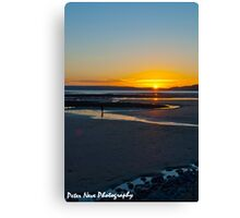 Last paddle of the day Canvas Print