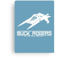 Buck Rogers In The 25th Century Spacecraft Sci Fi Tshirt Canvas Print