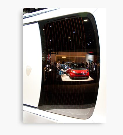 Reflections of the La Auto Show Canvas Print