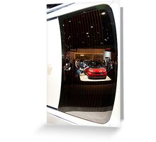 Reflections of the La Auto Show Greeting Card