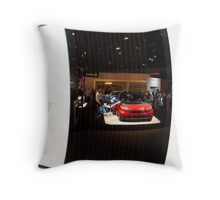 Reflections of the La Auto Show Throw Pillow