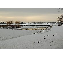 Cusworth park pond Photographic Print