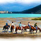 Lake Louise by Horse (digital art) by JamesA1