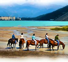Lake Louise by Horse (digital art) by JamesA1