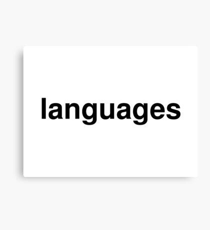 languages Canvas Print
