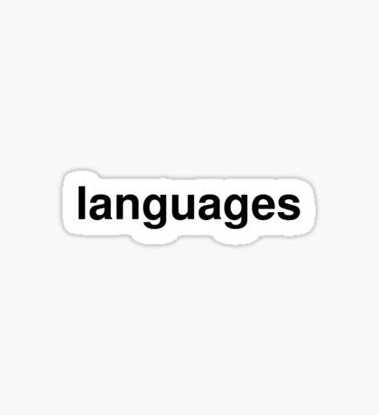 languages Sticker