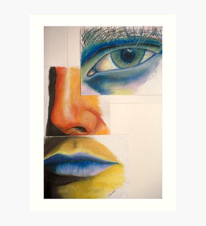 EYE NOSE MOUTH Art Print