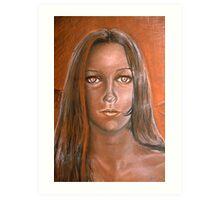 BURNT SIENNA PORTRAIT Art Print