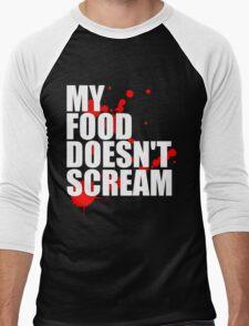 My Food Doesn't Scream Men's Baseball ¾ T-Shirt