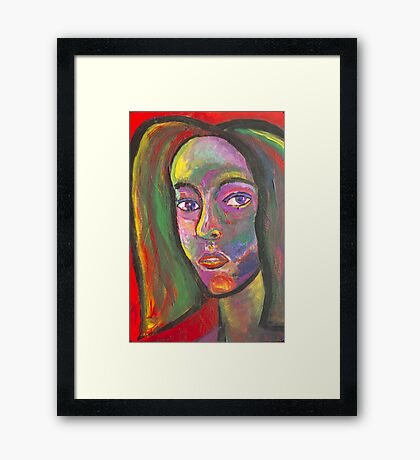 MULTI-COLORED SELF PORTRAIT Framed Print