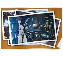 ghost in the shell motoko kusanagi batou pictures anime manga shirt Poster