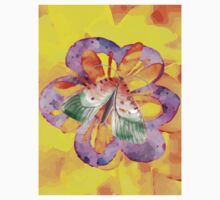 Vibrant butterfly moth watercolor v3 One Piece - Short Sleeve