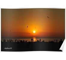 Sunset Crowd Poster