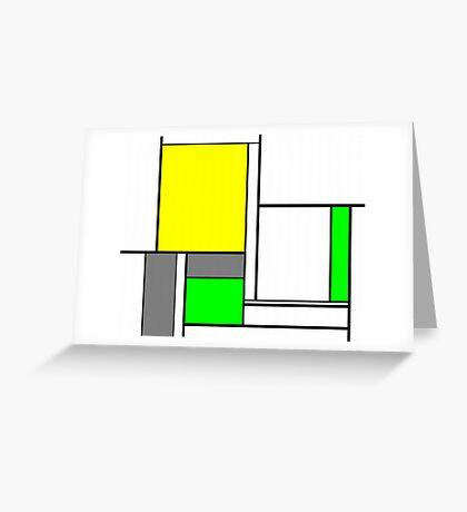 Faux Mondrian August Greeting Card