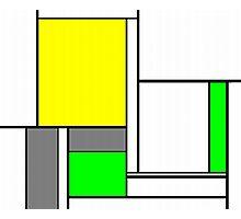 Faux Mondrian August Photographic Print