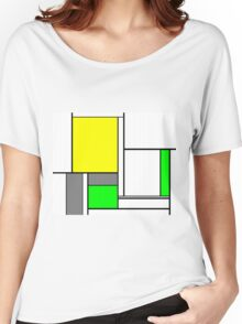 Faux Mondrian August Women's Relaxed Fit T-Shirt