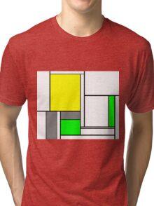 Faux Mondrian August Tri-blend T-Shirt