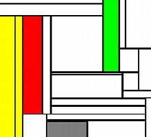Faux Mondrian February by Jim Plaxco