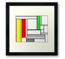 Faux Mondrian February Framed Print