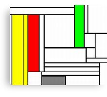 Faux Mondrian February Canvas Print