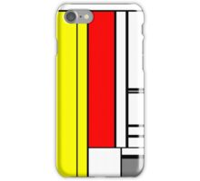 Faux Mondrian February iPhone Case/Skin