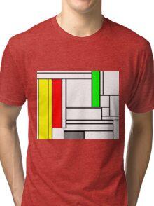 Faux Mondrian February Tri-blend T-Shirt