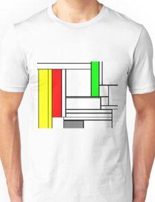 Faux Mondrian February Unisex T-Shirt