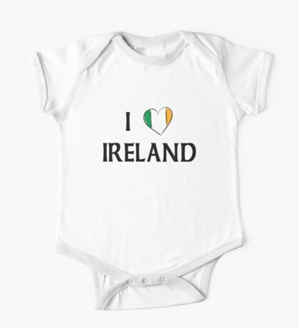 I Love Ireland One Piece - Short Sleeve