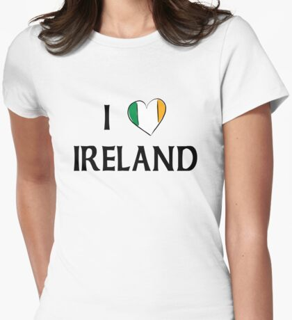 I Love Ireland Womens Fitted T-Shirt