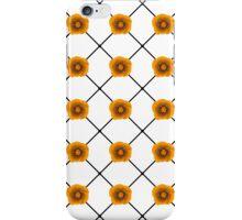 Modern Orange Flowers on Plaid iPhone Case/Skin