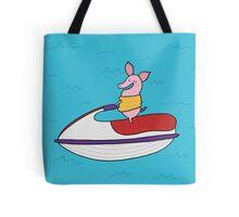 Jet Ski Pig Tote Bag