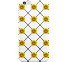 Modern Yellow Flowers on Plaid iPhone Case/Skin