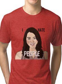 April Ludgate Hates People Tri-blend T-Shirt