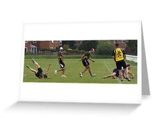Touch Rugby - Try time! Greeting Card