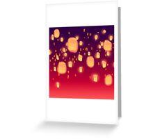 Floating Lanterns Greeting Card