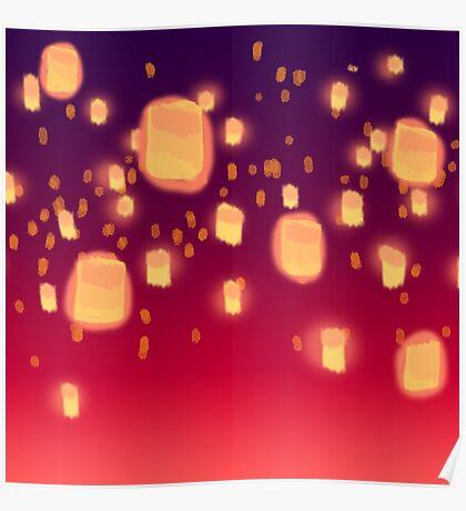Floating Lanterns Poster