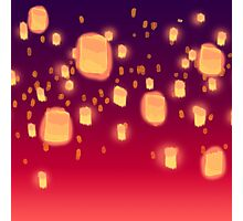 Floating Lanterns Photographic Print