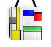 Faux Mondrian September Tote Bag