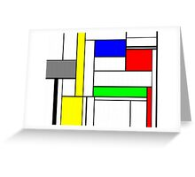 Faux Mondrian September Greeting Card