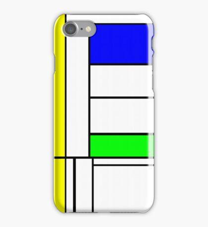 Faux Mondrian September iPhone Case/Skin