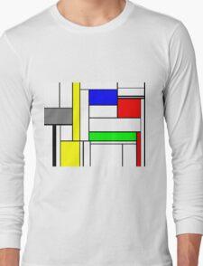 Faux Mondrian September Long Sleeve T-Shirt